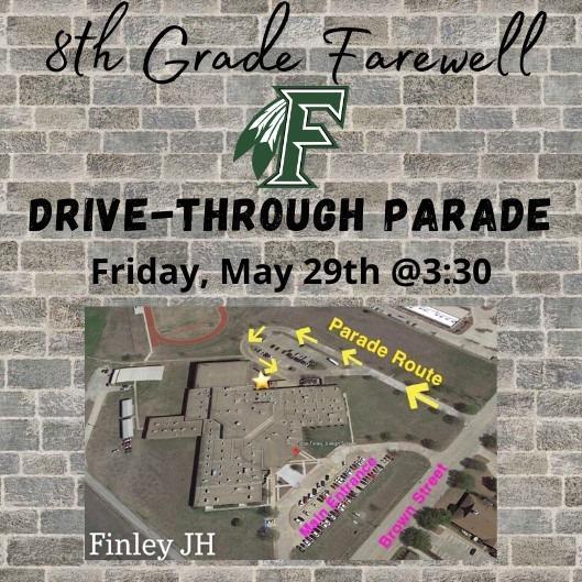 graphic describing parade route