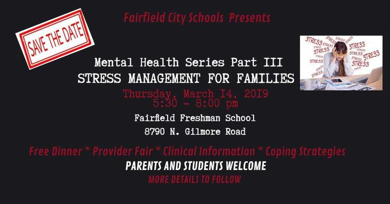 FCSD Announces Mental Health Series Part III - Stress Management for Families Featured Photo