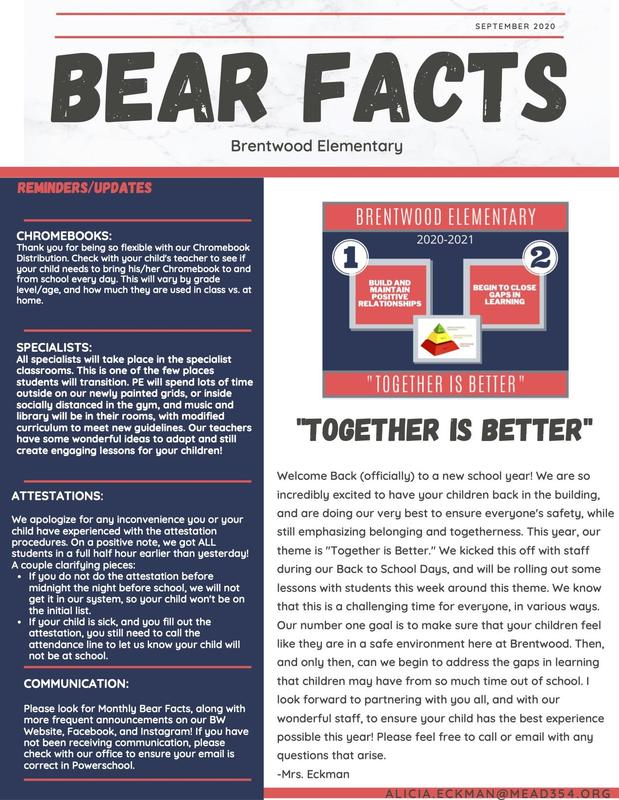Bear Facts September