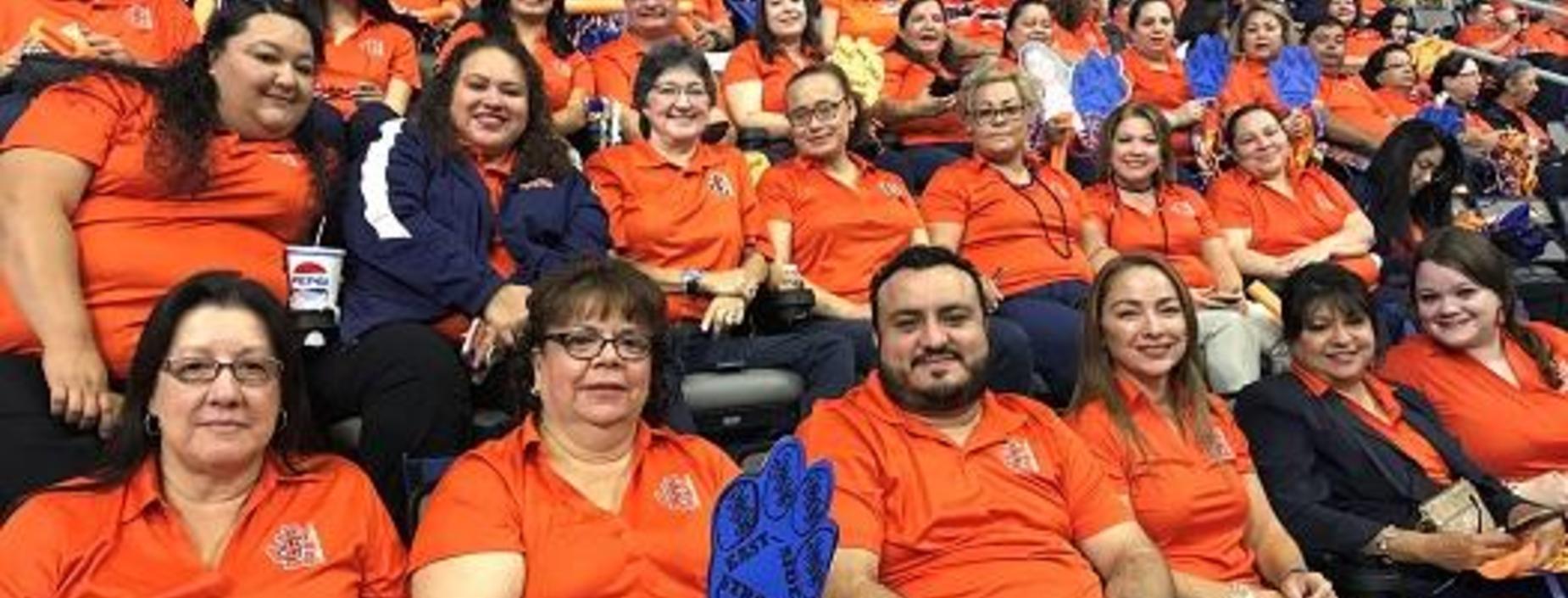 JEHS Staff at Bert Ogden Arena 2019