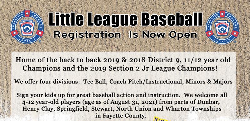 Little League Registration Now Open Featured Photo