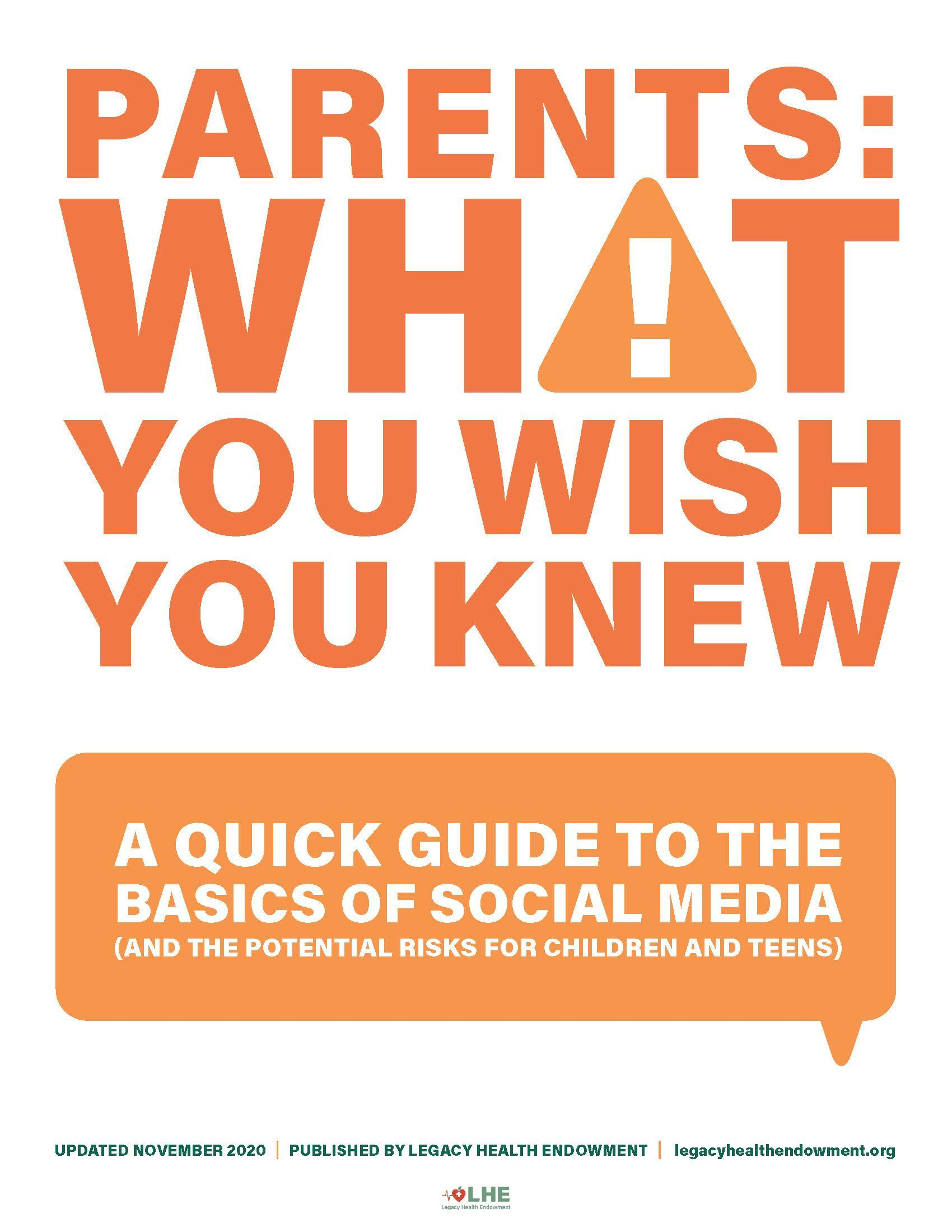 Social Media Safety: Parent Quick guide