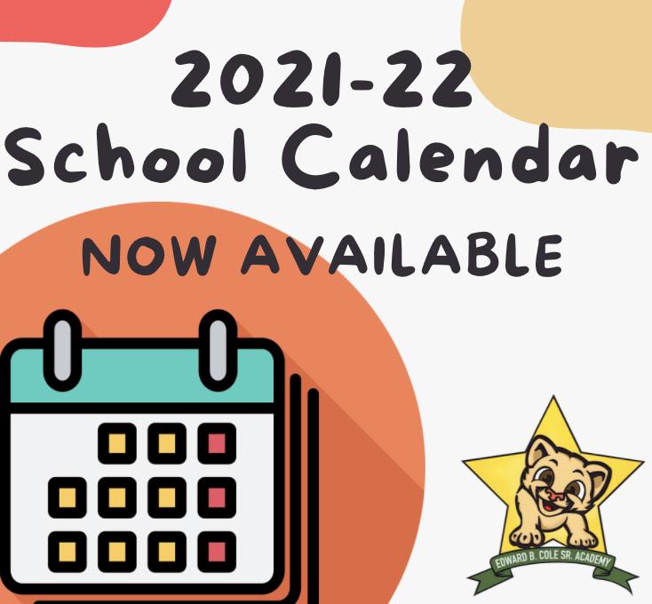 2021-22 School year calendar! Featured Photo