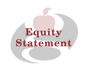 equity statement with logo in background