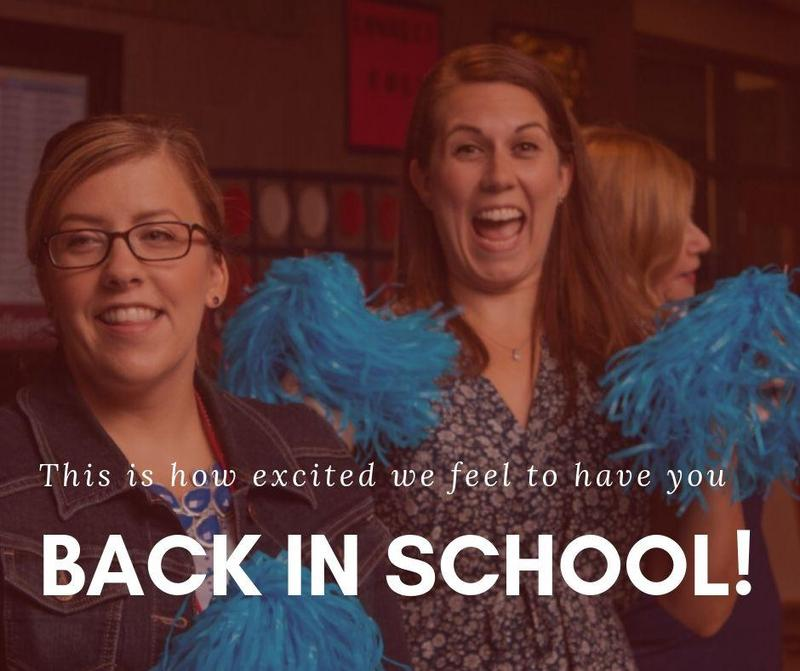 This is how excited we feel to have you back in school!