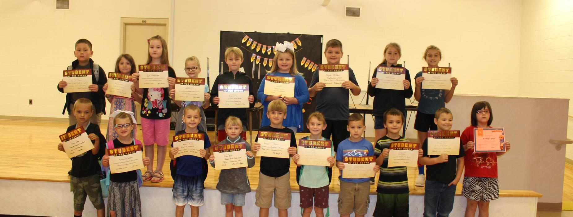September 2018 Student of the Month Pictures