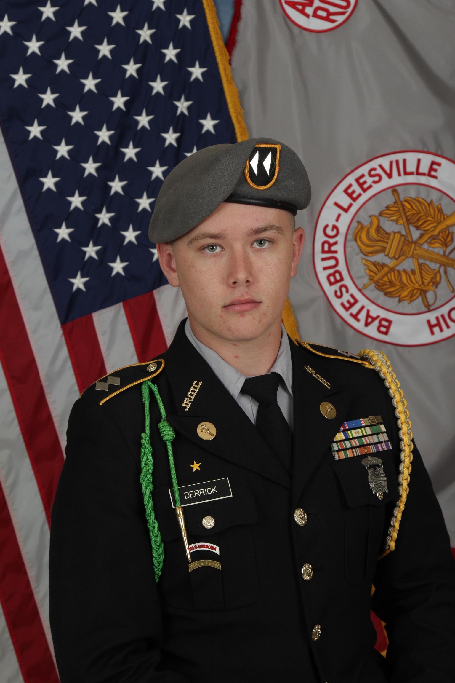 Panther Battalion Commander Cadet LTC Reid Derrick