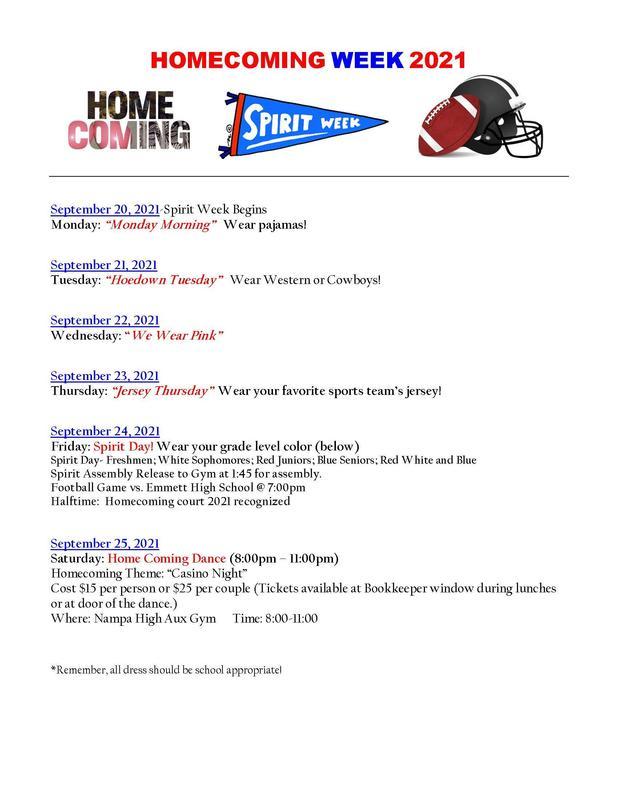 Homecoming week flyer