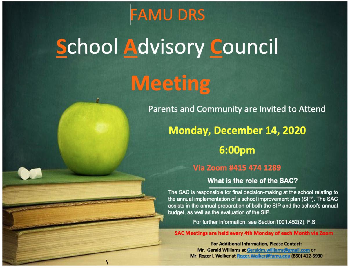 December SAC Meeting Flyer