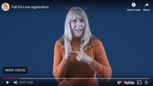 New registration process this year explained by Barbara White, PPS Director