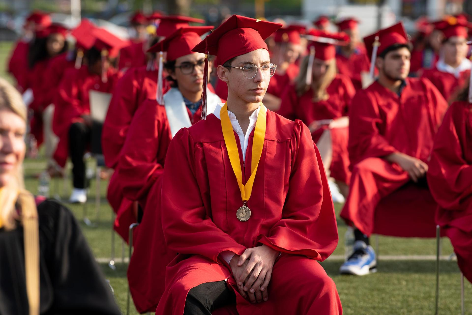 Candid of EHS graduates during the commencement exercises