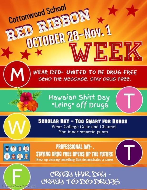 Red Ribbon Week poster October 28-November 1