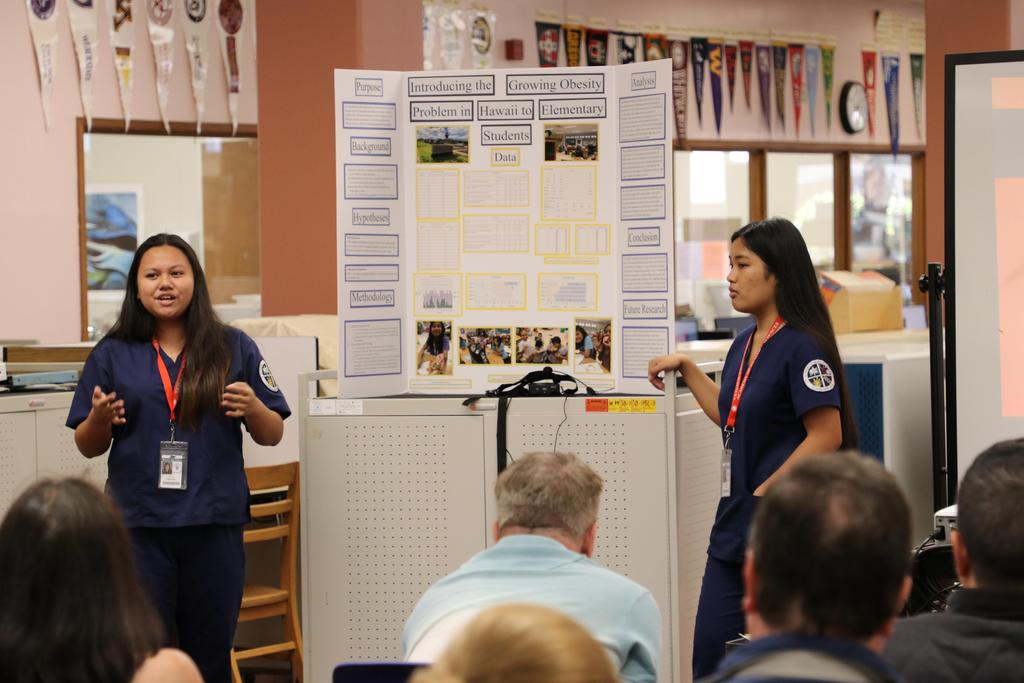 AHS talks about their science fair project