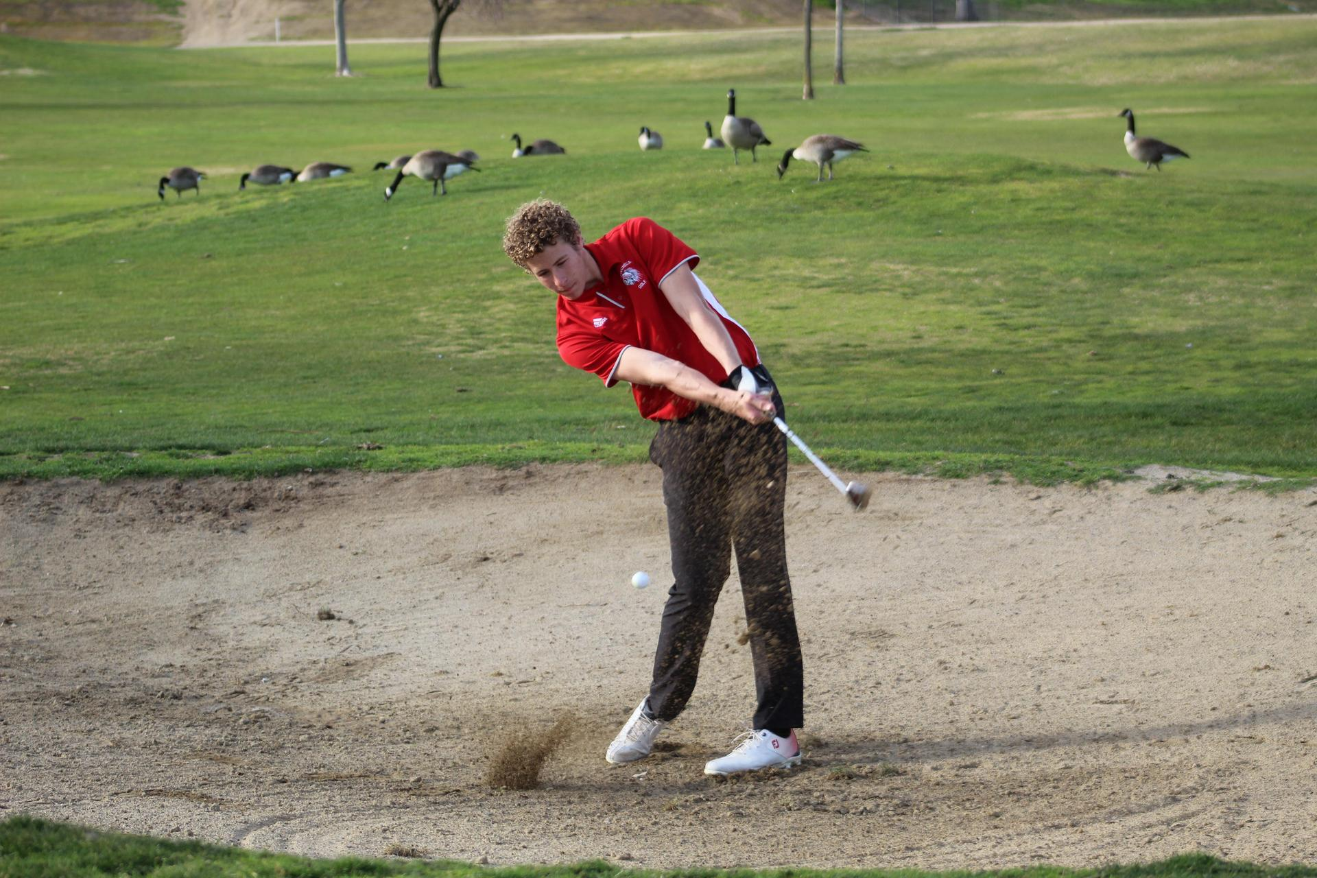 Chowchilla high boys playing golf against McLane