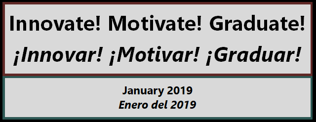 Enjoy Dr. Garcia's January video of her Innovate! Motivate! Graduate! Series. Thumbnail Image