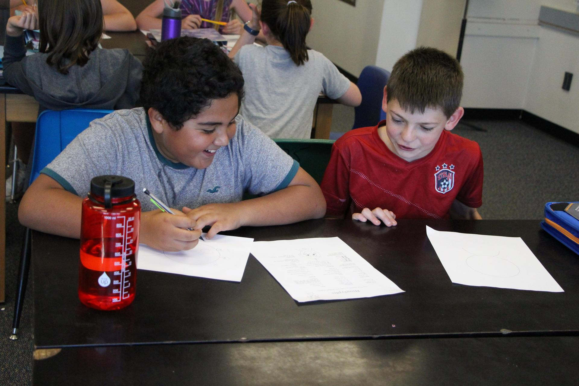 boys studying together