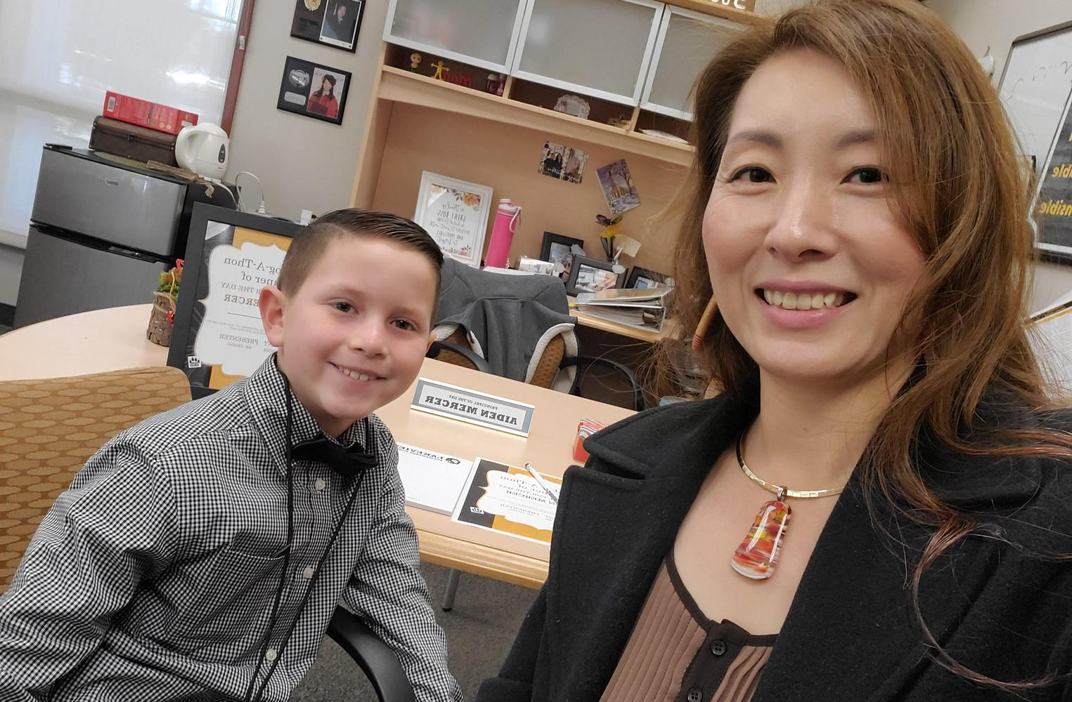 JOT winner principal for a day