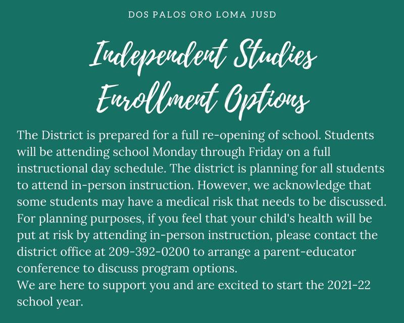Independent Studies Enrollment Options Featured Photo