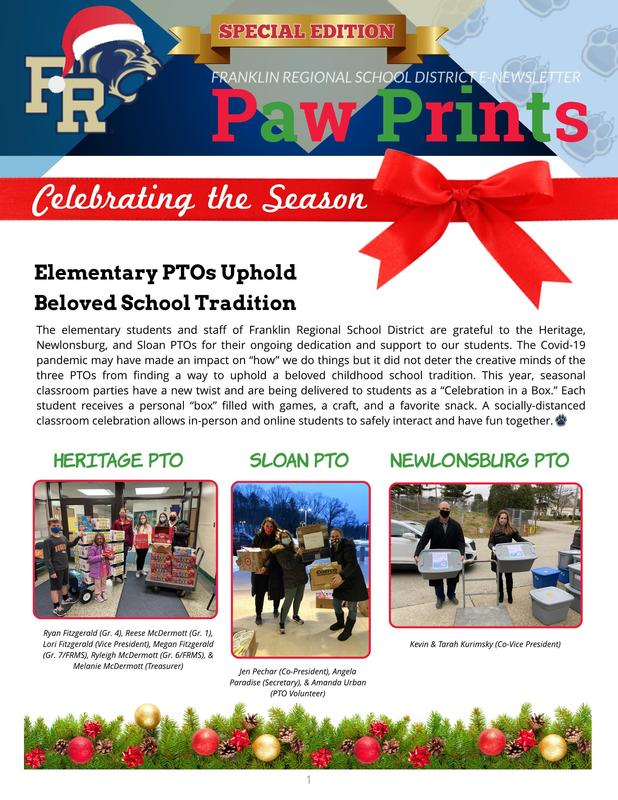 Paw Prints Holiday Edition 2020