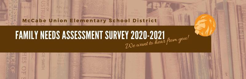 Family Needs Assessment Survey 2020-2021 Thumbnail Image