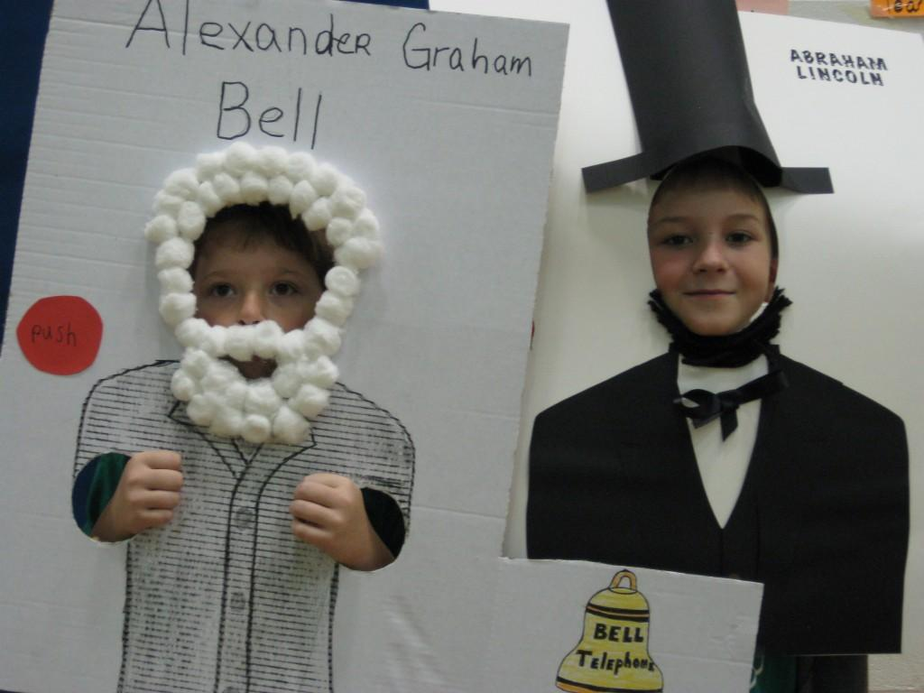 Wax Museum-Alexander Graham Bell and Abraham Lincoln