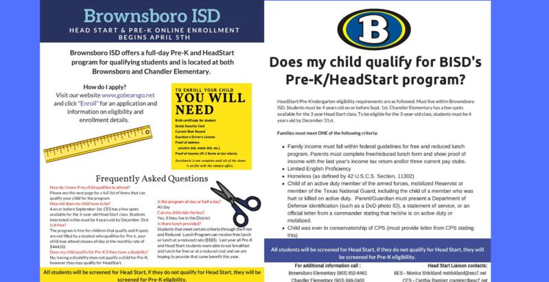 Pre-K & Head Start Enrollment Featured Photo