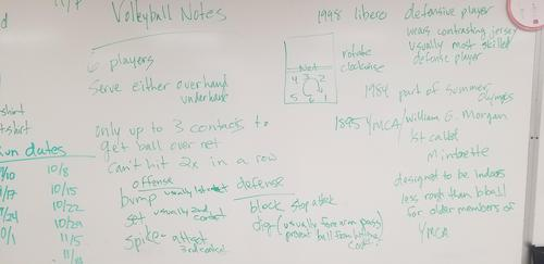 Volleyball notes
