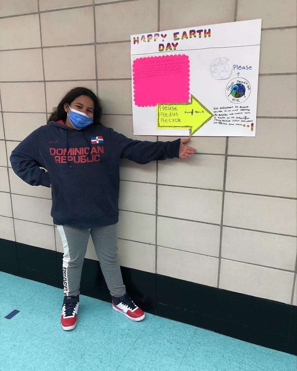 6th Grader, Alexa Restituyo, is urging everyone to stop hurting the Earth by recycle
