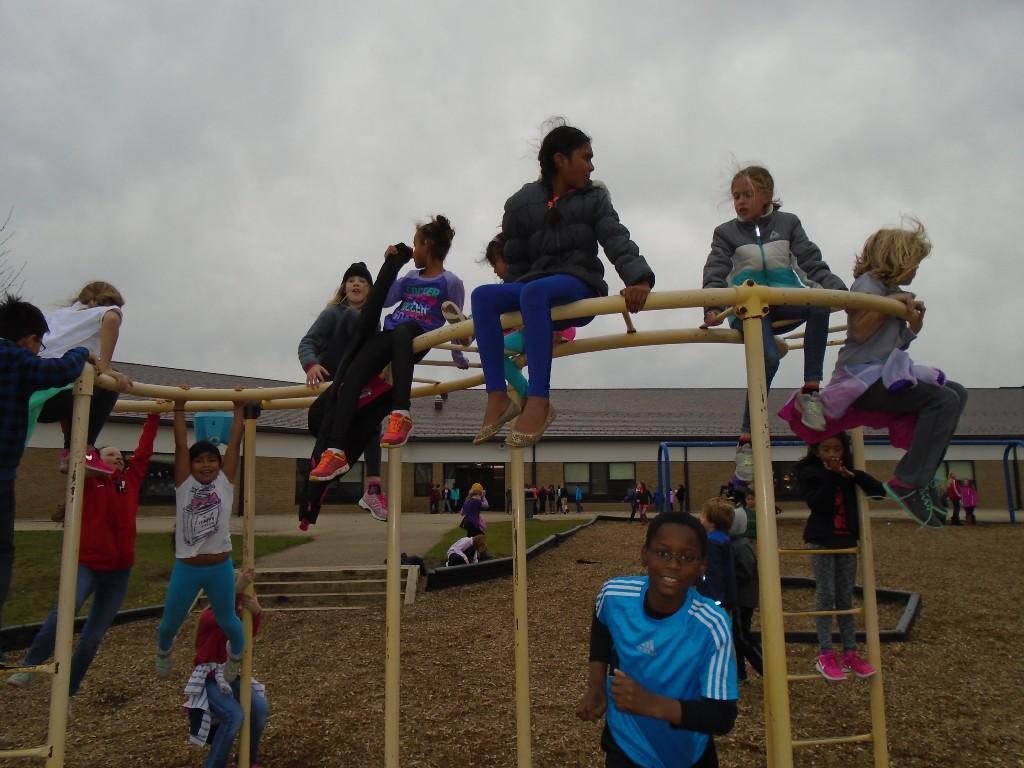 kids on playground
