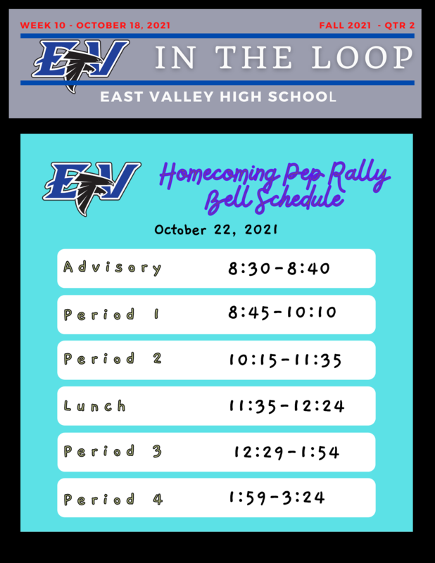 Homecoming Pep Rally Bell Schedule