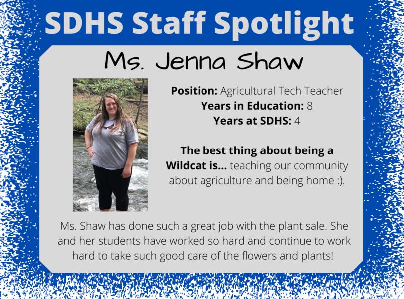 Staff Spotlight - Jenna Shaw