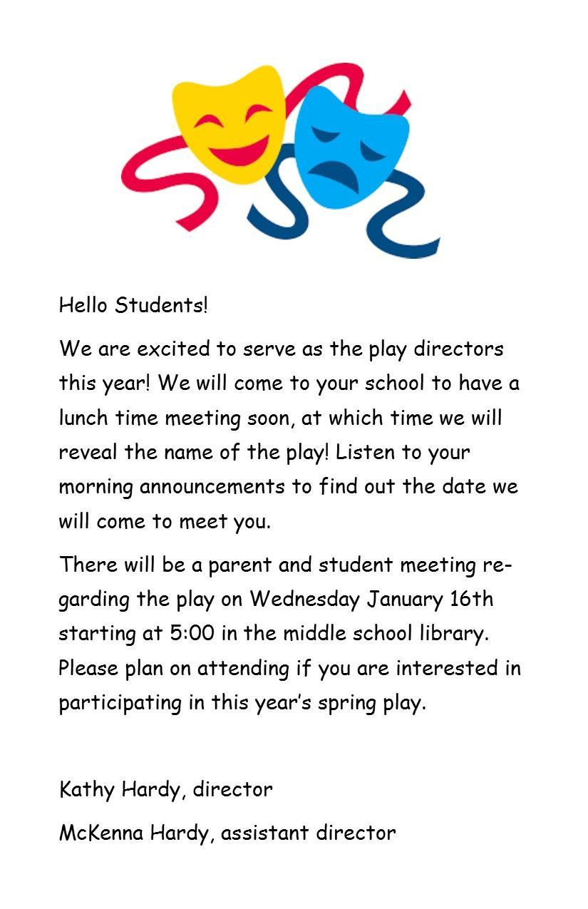 Information Regarding the District Play