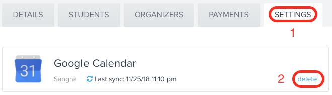 If calendar is linked, unlink current calendar.