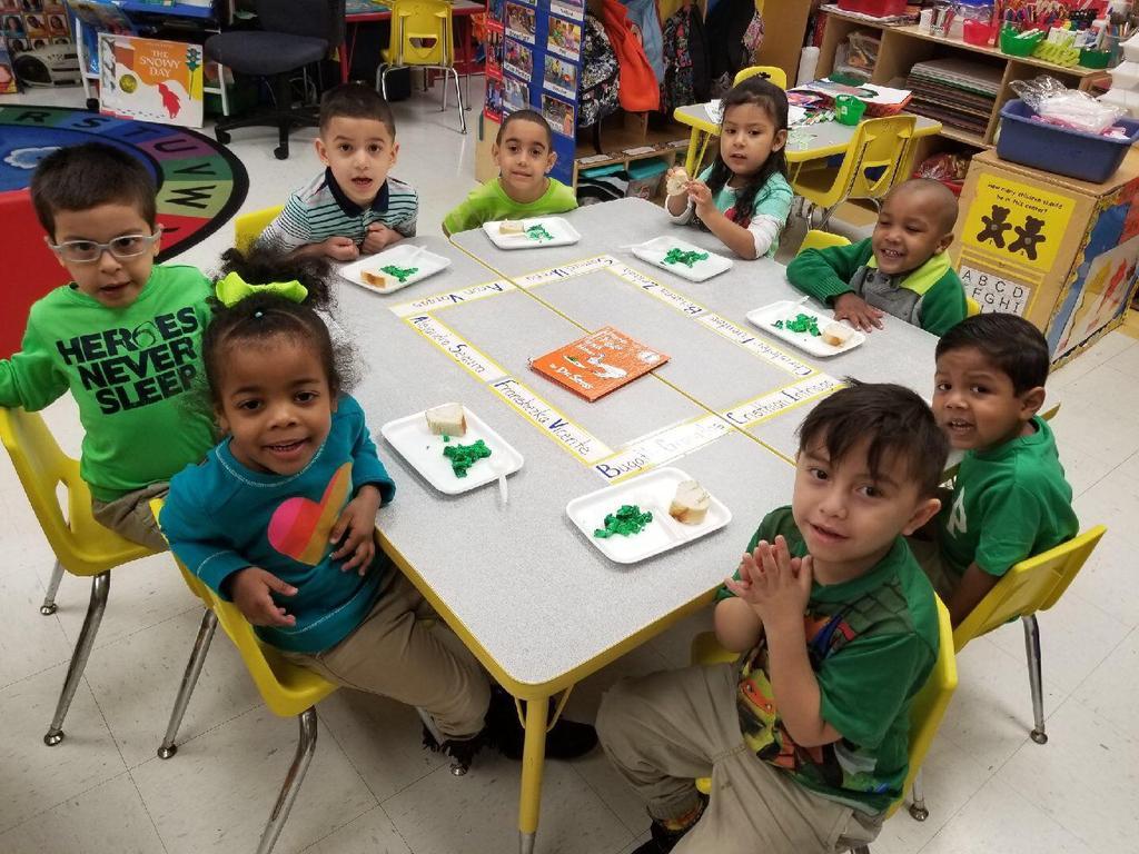 kids enjoying the green eggs and ham