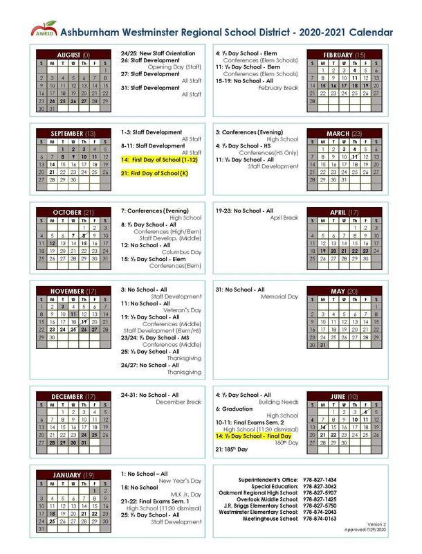 School Year Calendar Updated Featured Photo