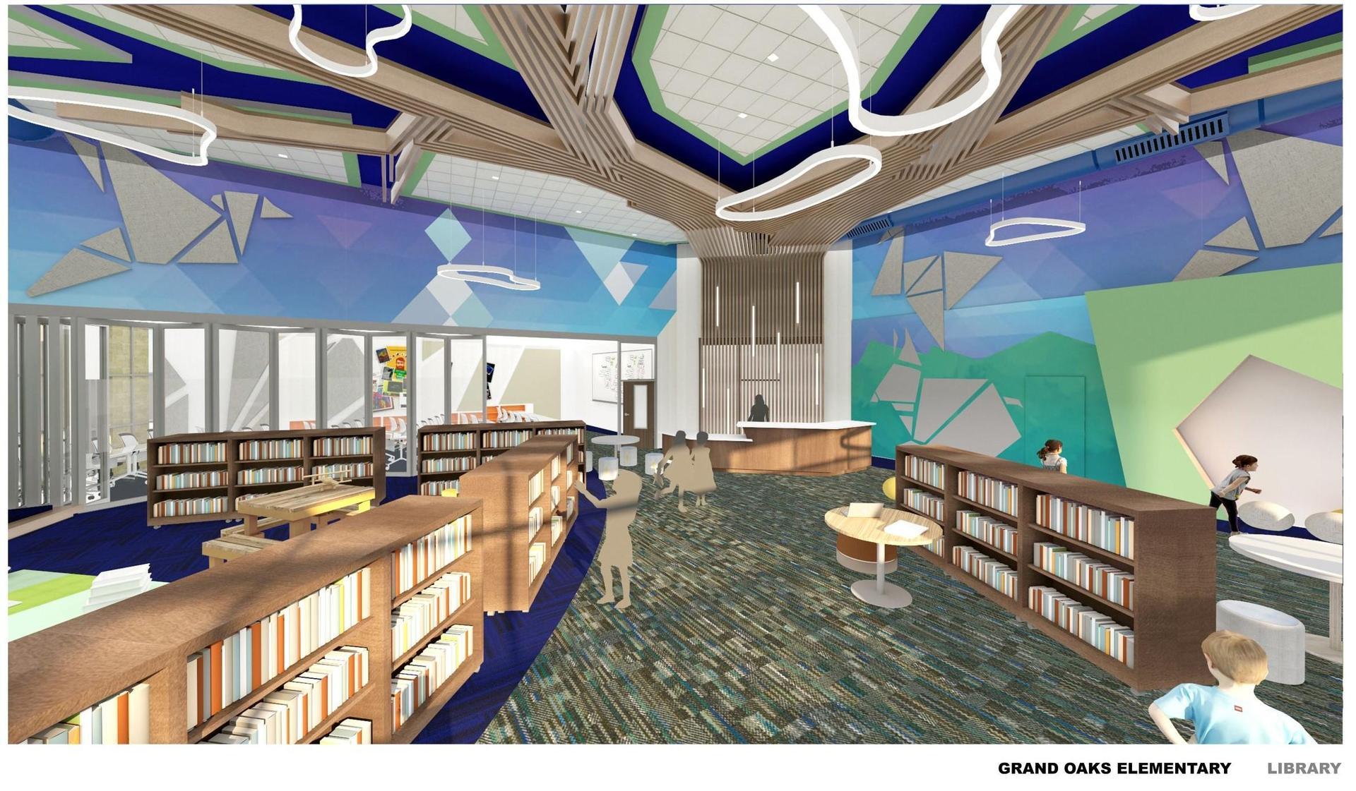 Grand Oaks ES Library Rendering