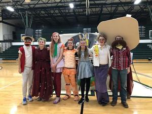 This 8th-grade OM team prepares for their long-term problem presentation