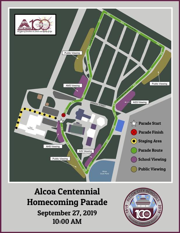 Centennial Parade Map