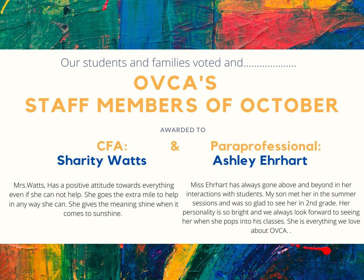 graphic - staff of the month