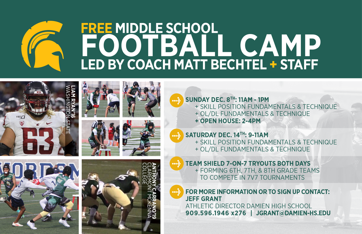 Free Middle School Football Camp