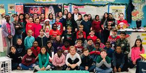 Mrs. Hill and Students