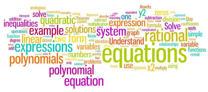 Algebra; What we cover