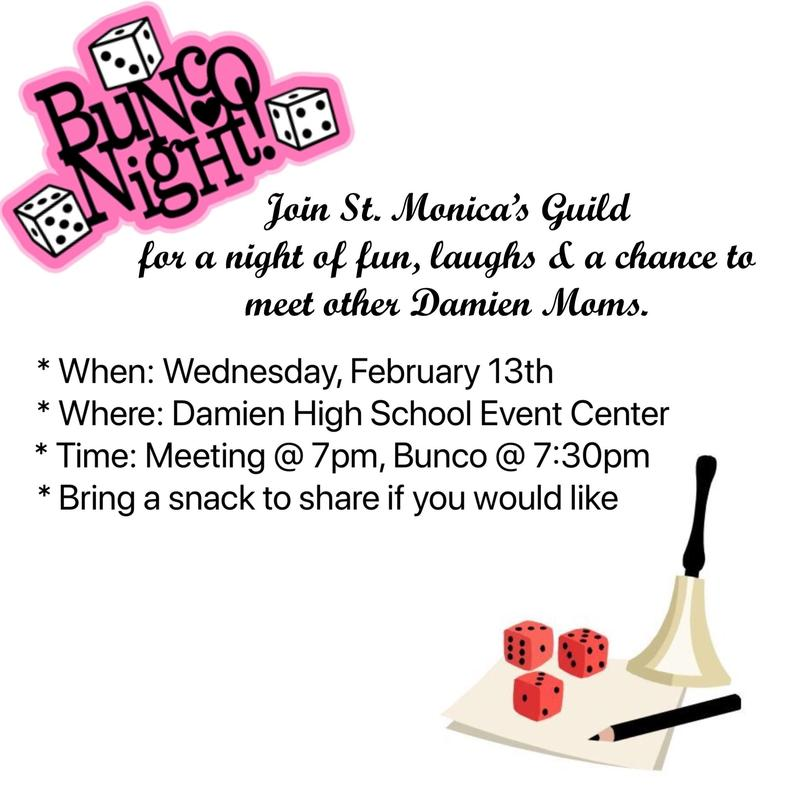 St. Monica's Guild - Bunco Night Featured Photo