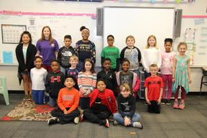 Pictured is Mrs. Brittany Newell's third grade class at Batesburg-Leesville Elementary School.  These students, who themselves raised $100.57, were just a few of many individuals and groups in Lexington Three and the Batesburg-Leesville community that contributed to the Panthers to Knights Love Campaign benefitting North Central High School.