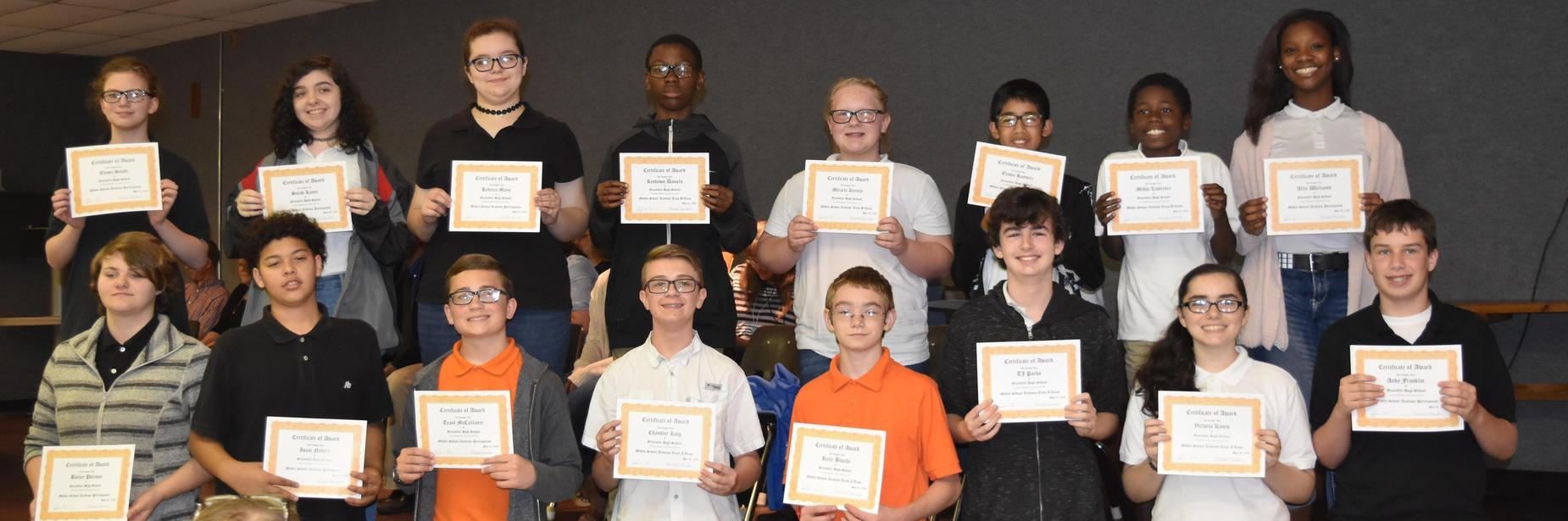ghs students receiving certificates