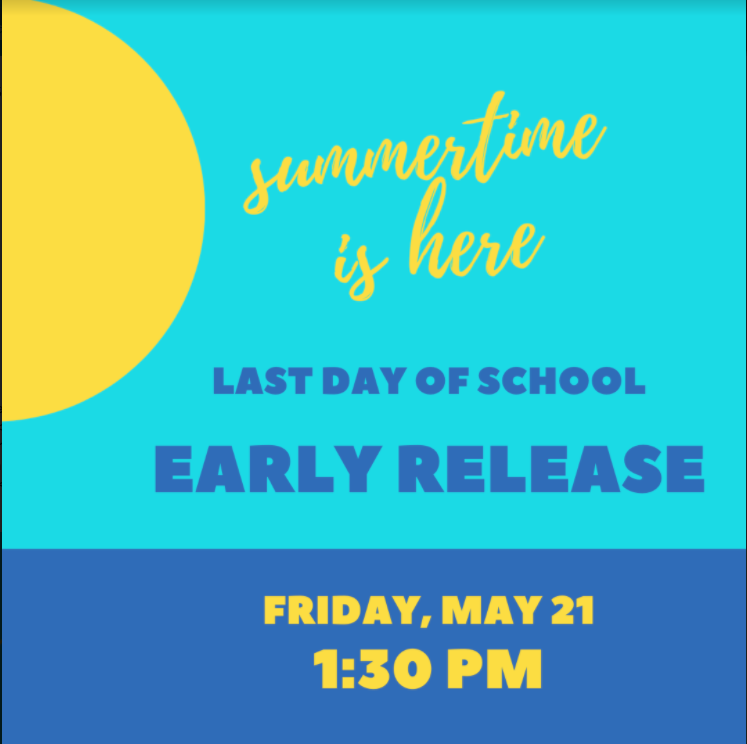 Early release Friday at 1:30 PM. Featured Photo
