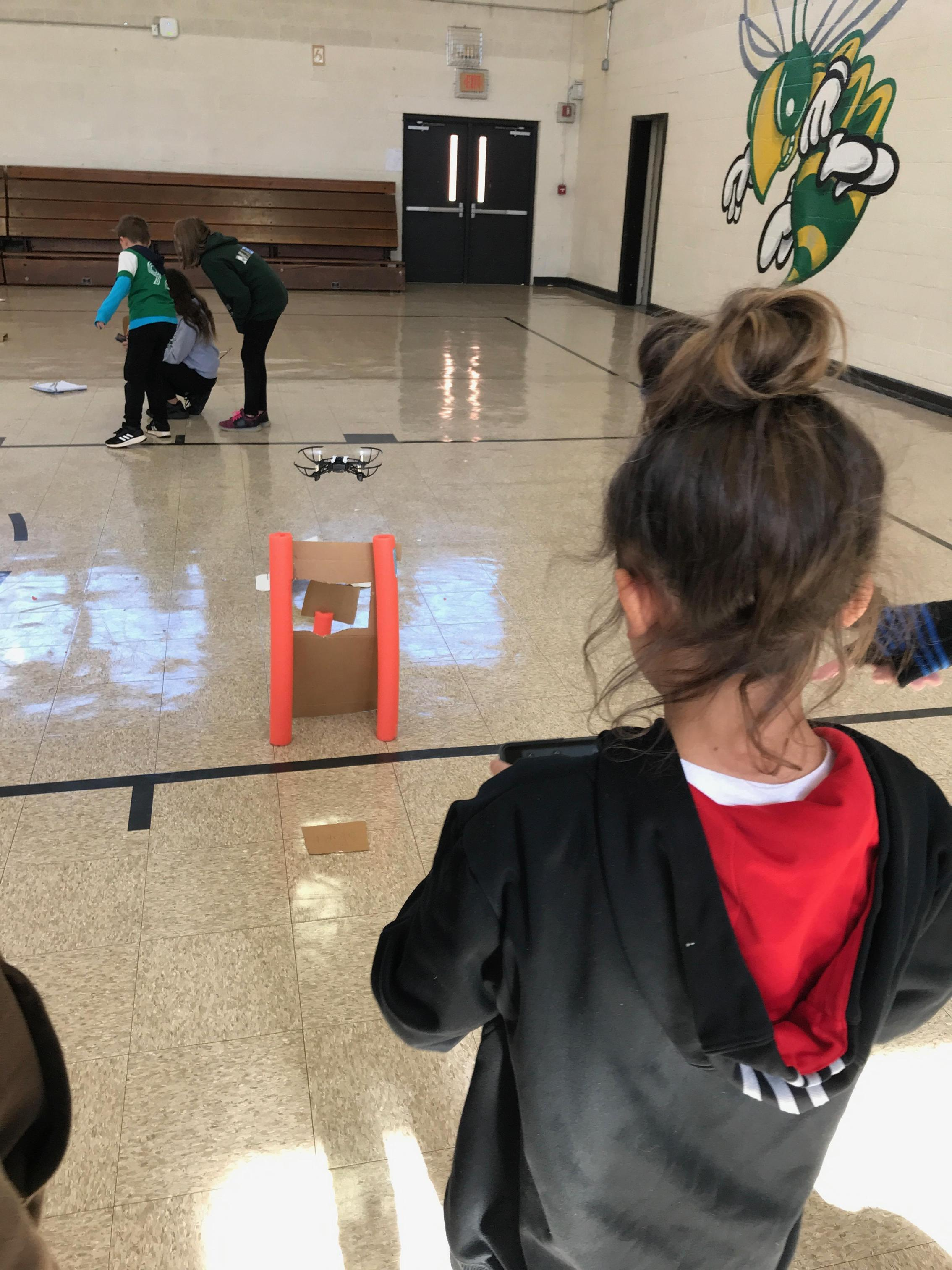 Image of Drone Challenge with 5th grade