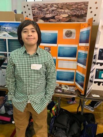 EMS boy who researched energy that makes cents