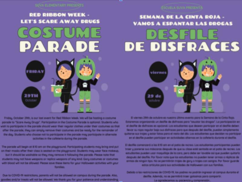 SUE Costume Parade Flyer