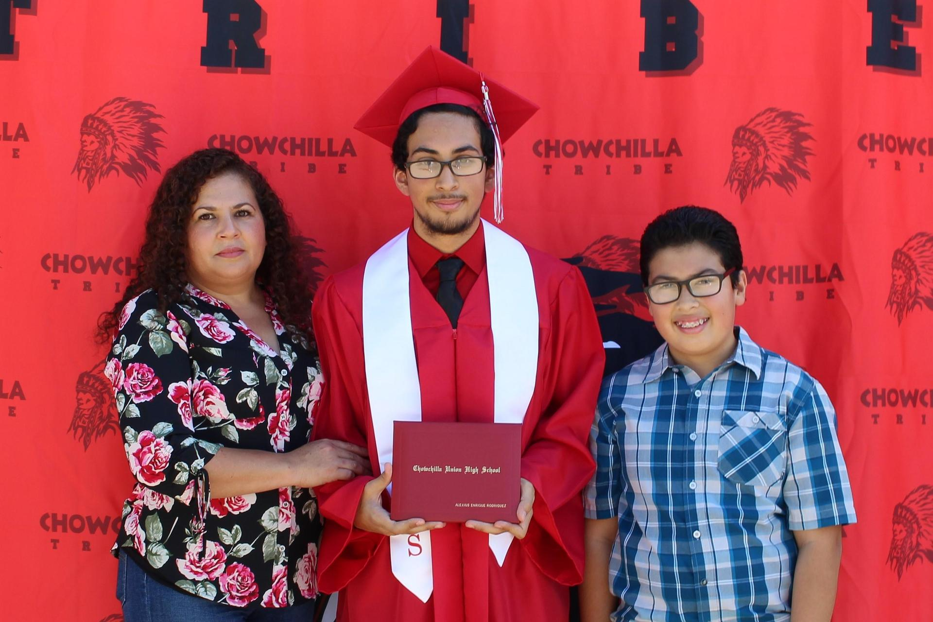 Alexius Rodriguez and family